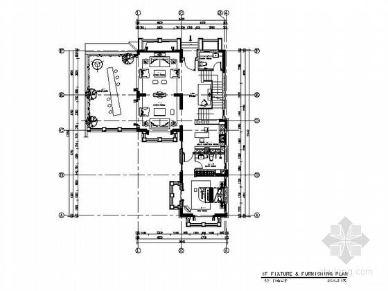 [海南]奢华欧式风格两层别墅样板间室内装修施工图(含效果)