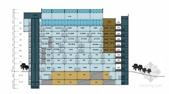 多层福利中心及育婴楼设计方案剖面图