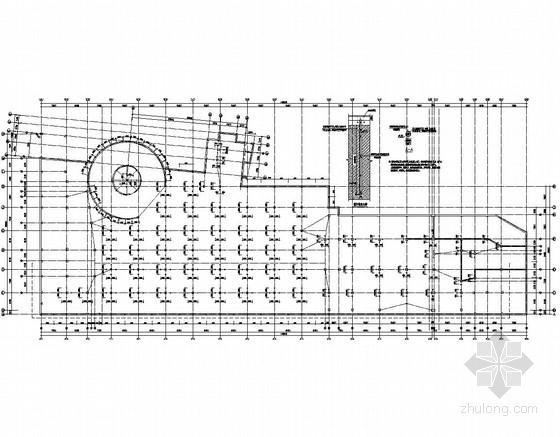[安徽]两层框架结构商场地下室结构施工图(抗浮锚杆)