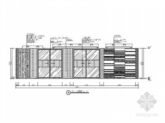 [绍兴]清雅端庄新中式风格三居室装修图(含效果图) 立面图