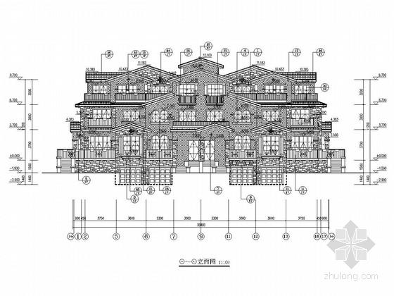 [安徽]1500平三层异形柱框架结构别墅建筑结构施工图