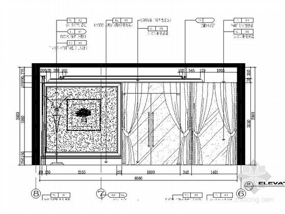 [青岛]现代欧式3居室全套CAD施工图立面图