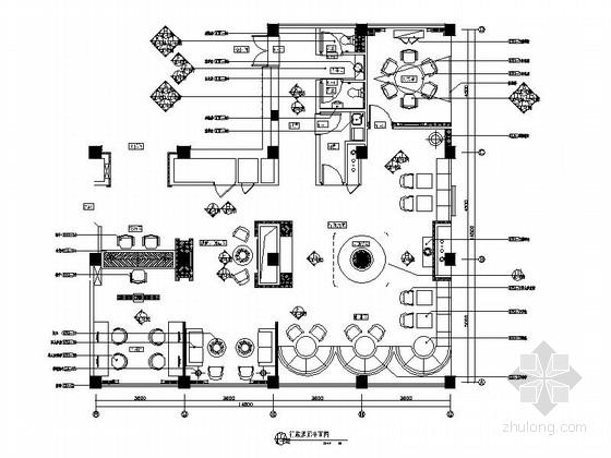 [江苏]现代大气的酒店行政酒廊装修施工图
