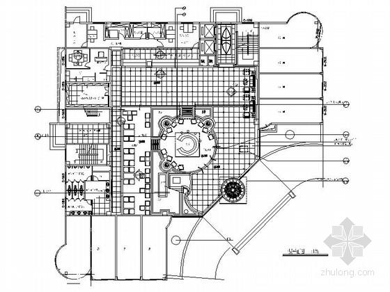 [江西]华贵欧式风格四星级标准酒店室内装修施工图