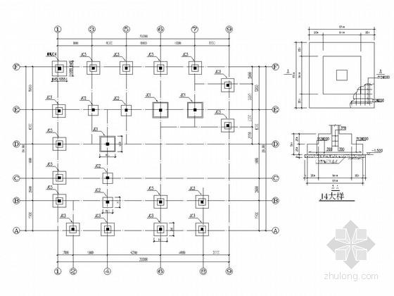 [广州]地上三层框架结构办公楼改造加固结构施工图