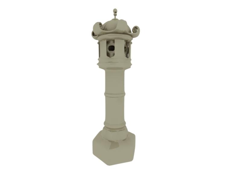 宫廷石灯3D模型下载