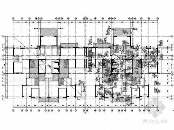 [四川]两栋18层剪力墙结构B户型住宅楼结构施工图