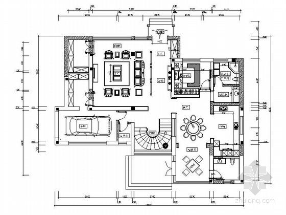 精品雅致中式联排别墅室内CAD装修图(含效果)