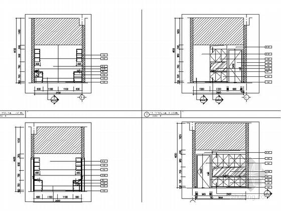 [北京]石油化工有限公司现代会议中心室内装修施工图服务间立面图