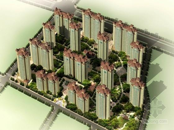新古典沿街商业su模型资料下载-[安徽]新古典风格高层住宅区规划设计方案文本