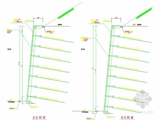 锚杆挡土墙边坡支护施工图