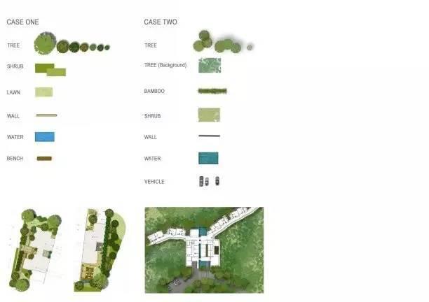 小清新风格的国外PSD植物彩色平面树素材