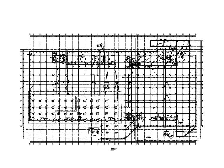 [重庆]5层框架结构仓储物流综合馆结构施工图(2014,机械旋挖桩)