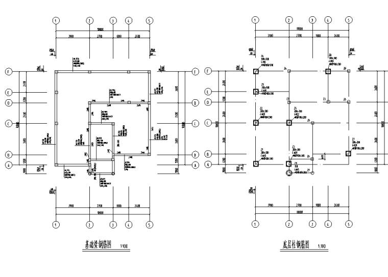 多层建筑别墅设计图(包含CAD)