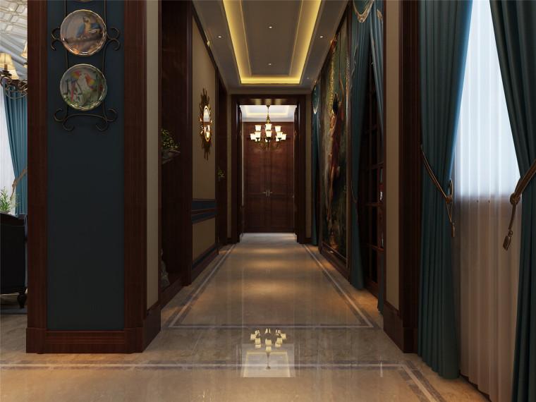 内蒙古·乌兰浩特独栋别墅设计效果图_2