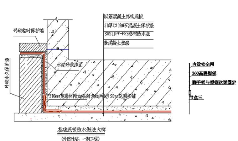 地下室防水工程施工方案(自防水与柔性防水层相结合)