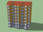 坡顶层住宅建筑设计模型