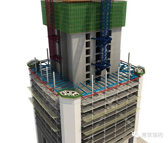 建筑结构丨超高层建筑钢结构施工流程三维效果图_28
