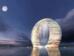 时尚环形建筑3D模型下载