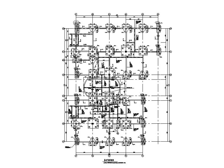 3层框架结构生物医学生产车间结构施工图