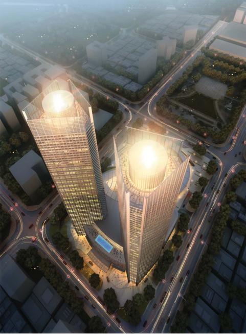 [浙江]超高层个中央国际广场CAD及方案设计全套图纸_1
