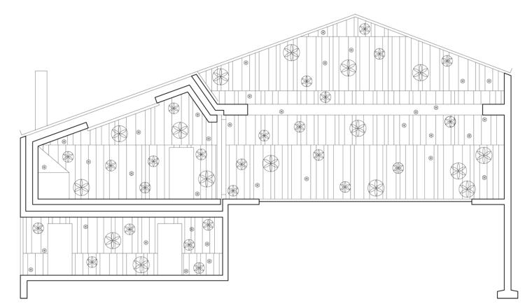 瑞士谷仓中的冥想建筑-8