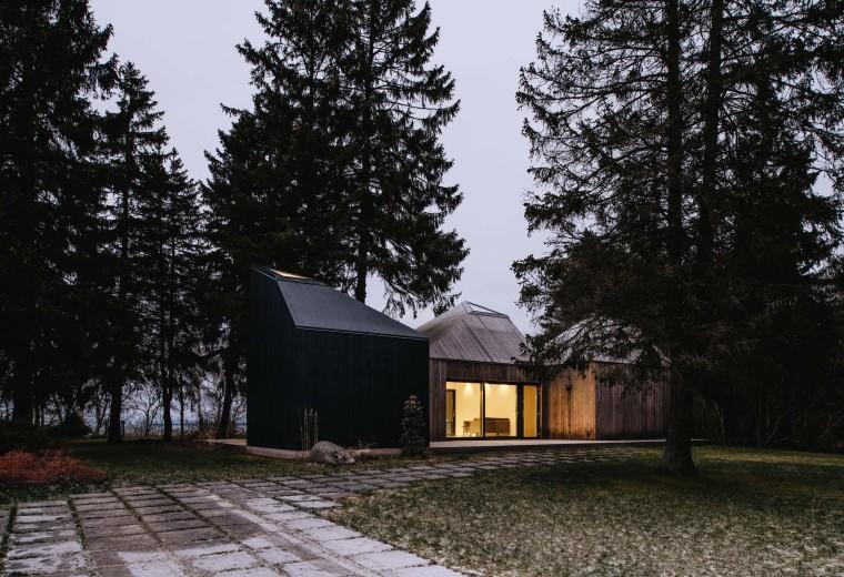 身披木衣的森林住宅