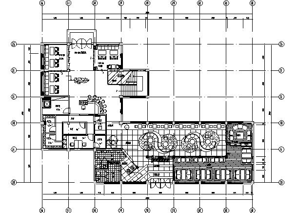 现代新中式风格咖啡馆设计施工图(含手绘效果图)