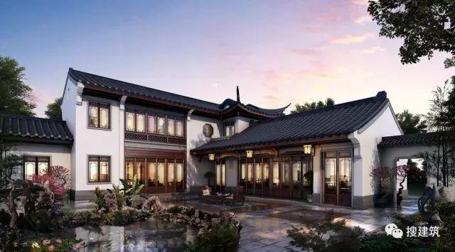 """纯中式96-199㎡小别墅,一宅多院,开创了""""院外合院""""的形式!!"""