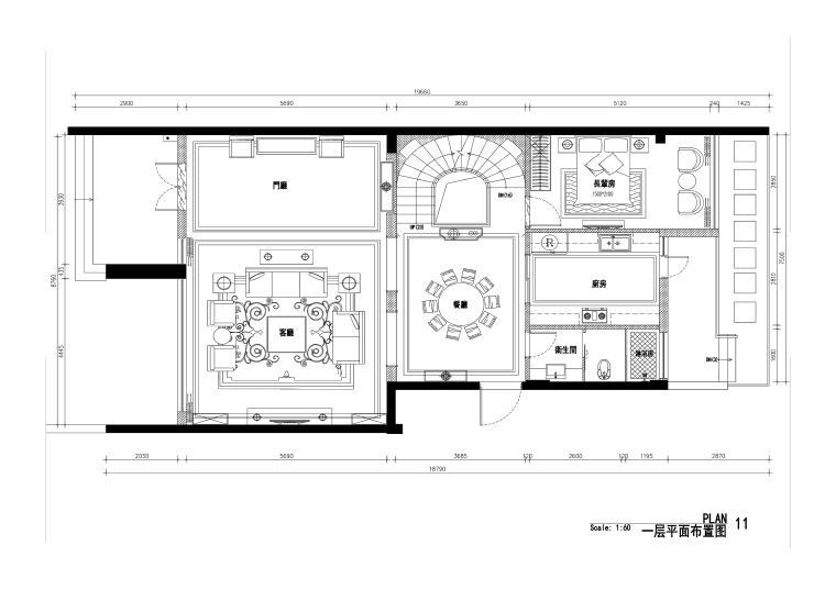 欧式风格中廷森林公馆设计施工图