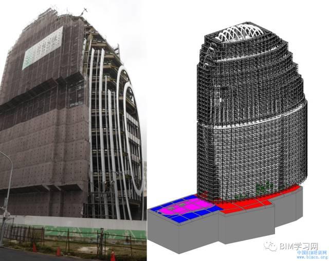 BIM应用于南港办公大楼案曲面帷幕建筑施工整合探讨_3