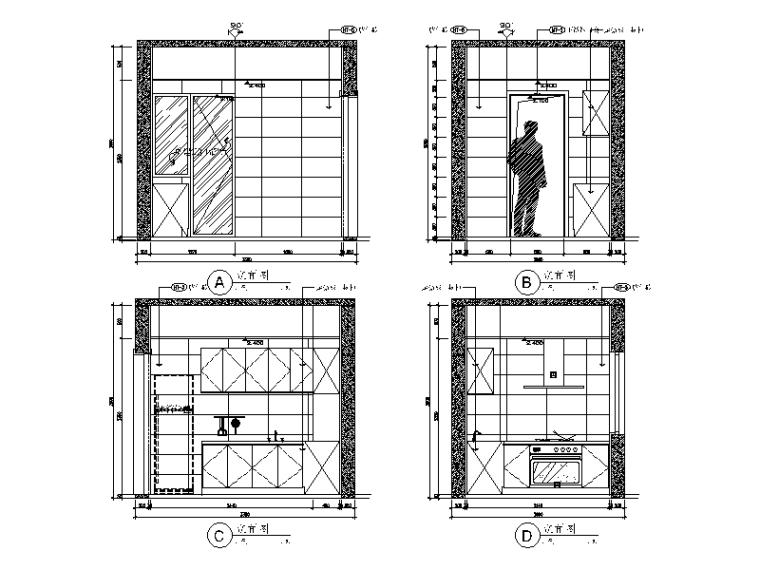 现代简约风格样板间设计施工图(含效果图)_6