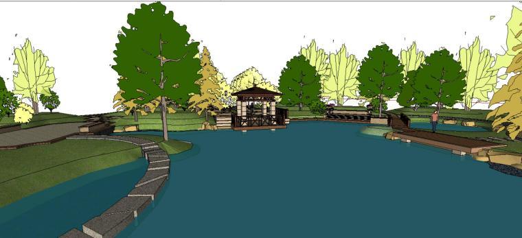 小游园庭院景观设计模型-场景二