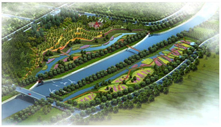 [云南]县级城区段河流景观设计方案