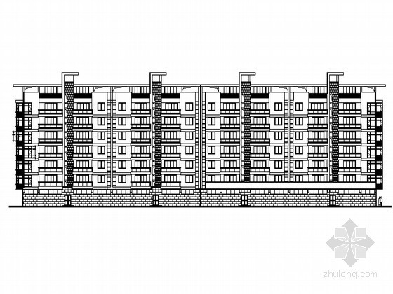 某七层底商住宅楼建筑施工图