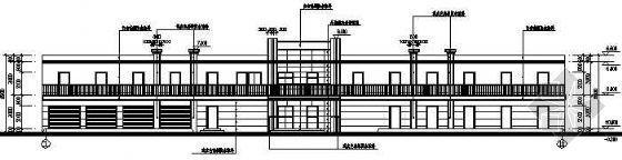 某军营二层宿舍楼建筑结构图纸