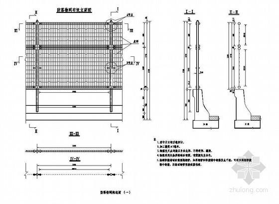 45m现浇预应力混凝土简支箱梁防落物网构造节点详图设计