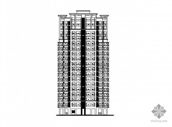 [长沙]某十七层塔式住宅楼建筑施工图(一梯四、顶层复式)