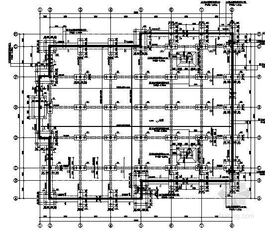 热泵机房承台桩基础节点详图(基础套管图)