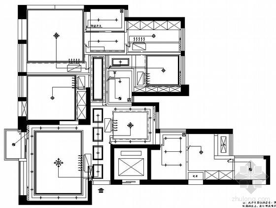 某两室两厅户型装修电气图纸-
