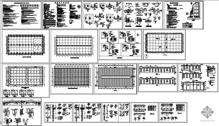 某全套钢筋混凝土排架厂房建筑结构图