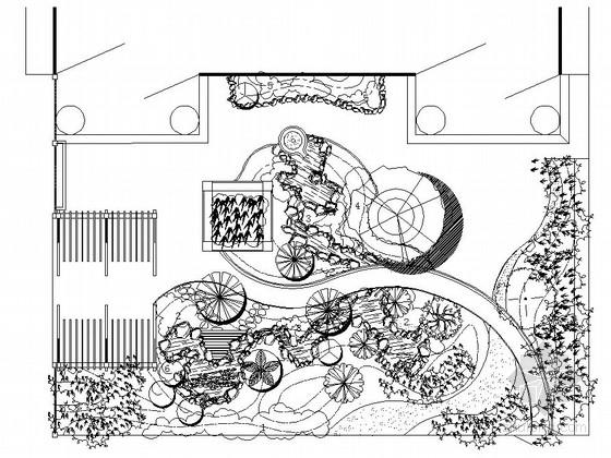 别墅庭院园林绿化工程施工图