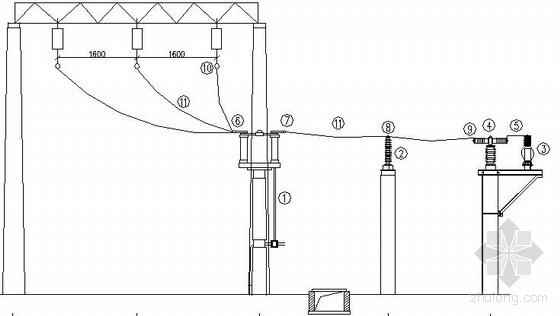 35kV压变避雷器间隔断面图