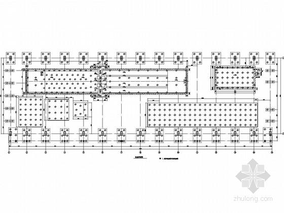 单层36米跨钢厂房和三层框架辅房结构施工图(200/50T吊车)