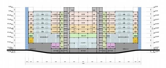 [江苏]时代标志性行政办公建筑设计方案文本-时代标志性行政办公建筑剖面图