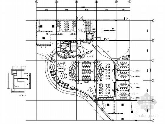 [江苏]质朴悠闲又宁静的西餐厅室内施工图(含汇报方案)