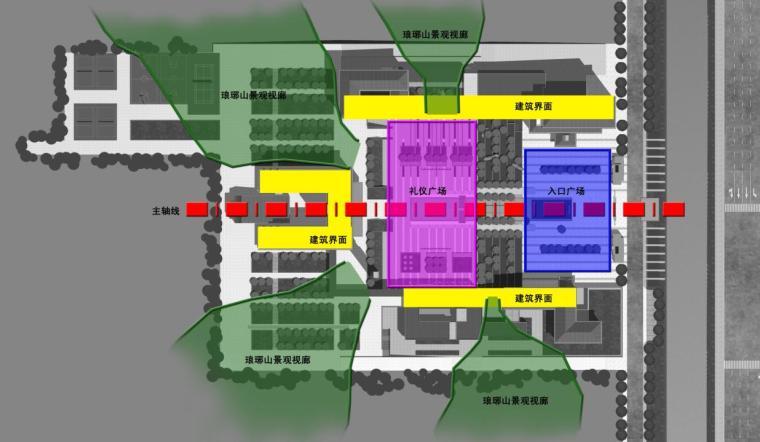 [安徽]高层新中式风格坡顶党校建筑设计方案文本-高层新中式风格坡顶党校建筑效果图分析图