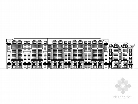 [长春]某花园住宅区六层带复式住宅楼建筑扩初图(2号楼)