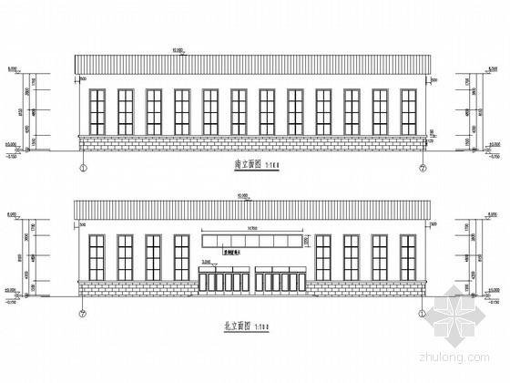 [呼伦贝尔]一层排架结构及钢结构体育馆结构图(含建筑图)