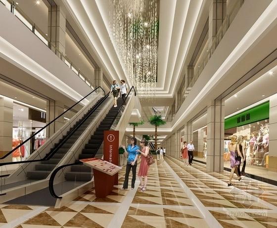 [苏州]工业园林区复合型商业综合体社区中心装修施工图(含效果)商场效果图